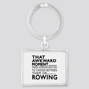 Rowing Awkward Moment Designs Landscape Keychain
