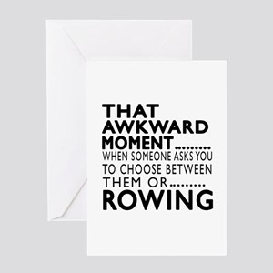 Rowing Awkward Moment Designs Greeting Card
