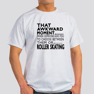 Roller Skating Awkward Moment Design Light T-Shirt