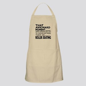 Roller Skating Awkward Moment Designs Apron