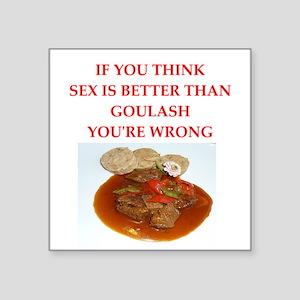 a funny food joke Sticker
