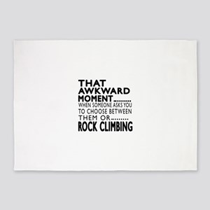 Rock Climbing Awkward Moment Design 5'x7'Area Rug