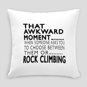 Rock Climbing Awkward Moment Desig Everyday Pillow