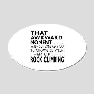 Rock Climbing Awkward Moment 20x12 Oval Wall Decal