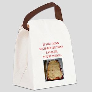 a funny food joke Canvas Lunch Bag