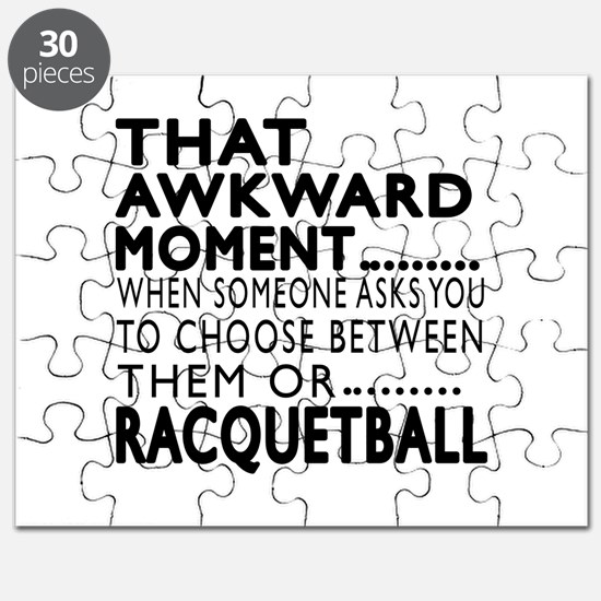 Racquetball Awkward Moment Designs Puzzle