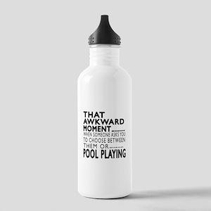 Pool Playing Awkward M Stainless Water Bottle 1.0L