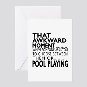 Pool Playing Awkward Moment Designs Greeting Card