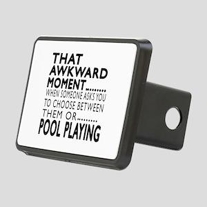 Pool Playing Awkward Momen Rectangular Hitch Cover