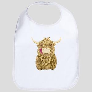 Happy Highland Cow Bib
