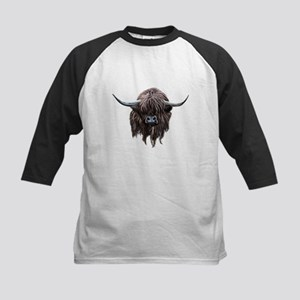 Scottish Highland Cow Baseball Jersey