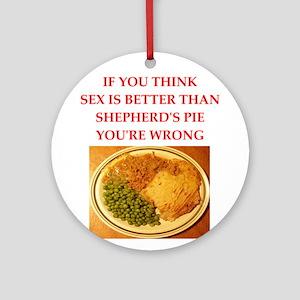 a funny food joke Round Ornament
