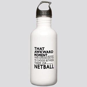 Netball Awkward Moment Stainless Water Bottle 1.0L