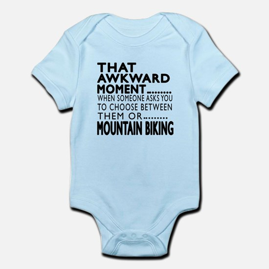 Mountain Biking Awkward Moment Des Infant Bodysuit