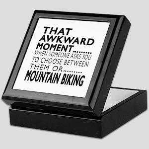 Mountain Biking Awkward Moment Design Keepsake Box