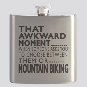 Mountain Biking Awkward Moment Designs Flask