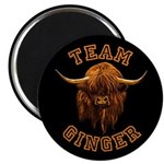 Team Ginger Scottish Highland Cow Magnet