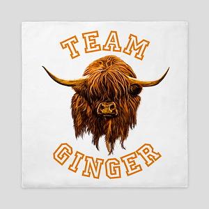 Team Ginger Scottish Highland Cow Queen Duvet