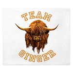 Team Ginger Scottish Highland Cow King Duvet