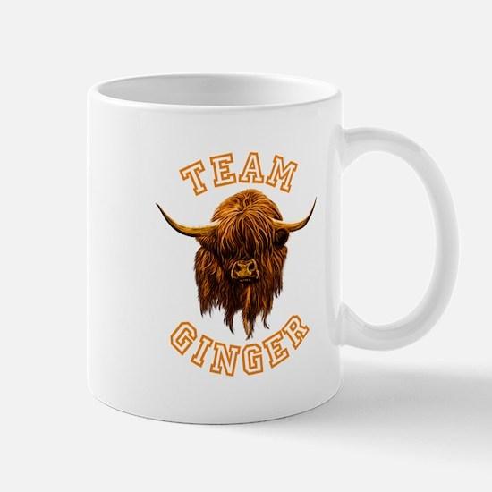 Team Ginger Scottish Highland Cow Mug