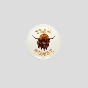 Team Ginger Scottish Highland Cow Mini Button
