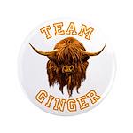 Team Ginger Scottish Highland Cow Button
