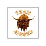 Team Ginger Scottish Highla Square Sticker 3