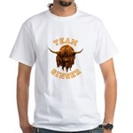 Team Ginger Scottish Highland Cow White T-Shirt