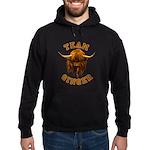 Team Ginger Scottish Highland Cow Hoodie (dark)