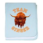 Team Ginger Scottish Highland Cow baby blanket