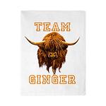 Team Ginger Scottish Highland Cow Twin Duvet