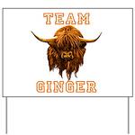 Team Ginger Scottish Highland Cow Yard Sign
