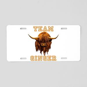 Team Ginger Scottish Highla Aluminum License Plate