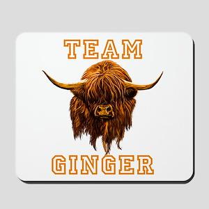 Team Ginger Scottish Highland Cow Mousepad