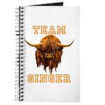 Team Ginger Scottish Highland Cow Journal