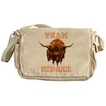 Team Ginger Scottish Highland Cow Messenger Bag