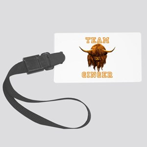 Team Ginger Scottish Highland Co Large Luggage Tag