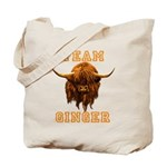 Team Ginger Scottish Highland Cow Tote Bag