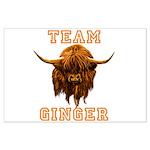 Team Ginger Scottish Highland Cow Large Poster