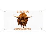 Team Ginger Scottish Highland Cow Banner