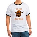 Team Ginger Scottish Highland Cow Ringer T