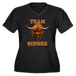 Team Ginger Women's Plus Size V-Neck Dark T-Shirt