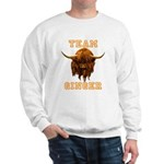 Team Ginger Scottish Highland Cow Sweatshirt