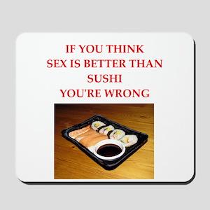 a funny food joke Mousepad