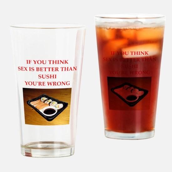 a funny food joke Drinking Glass