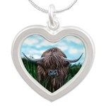 Scottish Highland Cow Painting Necklaces
