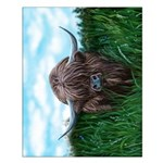 Scottish Highland Cow Painting Poster Design