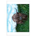 Scottish Highland Cow Painting Poster Art