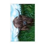 Scottish Highland Cow Painting Poster Print (Mini)