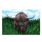 Scottish Highland Cow Painting Postcards (Package